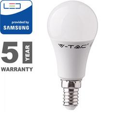 E14 LED lámpa (9W/200°) Körte R58 - hideg fehér, PRO Samsung