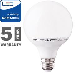 E27 LED lámpa (18W/200°) G120 - meleg fehér, PRO Samsung