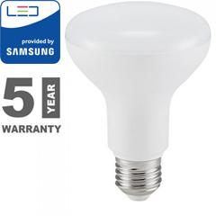 E27 LED lámpa (10W/120°) R80 - meleg fehér, PRO Samsung