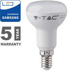 E14 LED lámpa (6W/120°) Reflektor R50 - meleg fehér, PRO Samsung