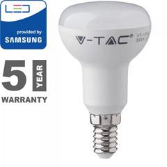 E14 LED lámpa (6W/120°) Reflektor R50 - hideg fehér, PRO Samsung