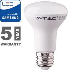 E27 LED lámpa (8W/120°) Reflektor R63 - meleg fehér, PRO Samsung