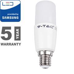 E27 LED lámpa (8W/230°) Rúd T37 - meleg fehér, PRO Samsung
