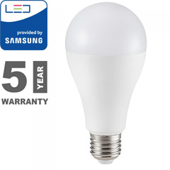 E27 LED lámpa (15W/200°) Körte A67 - hideg fehér, PRO Samsung