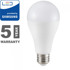 E27 LED lámpa (9W/200°) Körte A60 - meleg fehér, PRO Samsung