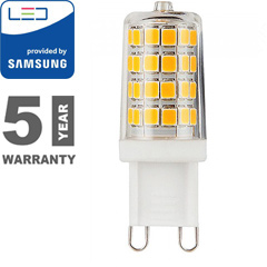 LED lámpa G9 (3W/300°) Rúd - hideg fehér, PRO Samsung