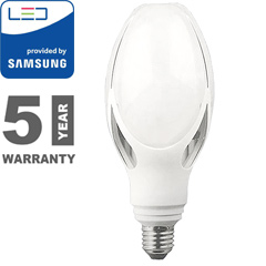 E27 LED lámpa (36W/265°) Olive - meleg fehér, PRO Samsung