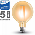 E27 LED izzó Vintage filament (6W/300°) G95 - extra meleg f., PRO Samsung