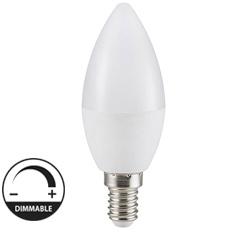 E14 LED lámpa (6W/180°) Gyertya - meleg fehér, dimmelhető