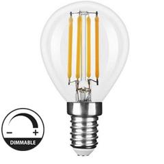 E14 LED izzó Retro filament (4W/300°) Kisgömb - meleg fehér, dimmelhető