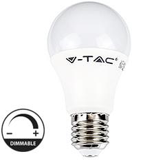 E27 LED lámpa (9W/200°) Körte Smart - hideg fehér, kapcsolóval dimmelhető Kifutó!