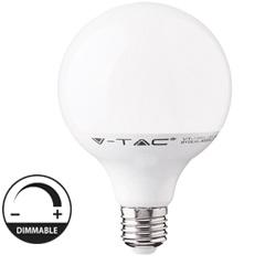 E27 LED lámpa (13W/200°) G120 - hideg fehér, dimmelhető