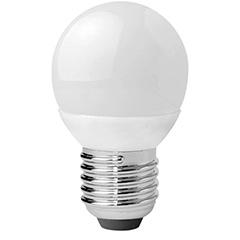 E27 LED lámpa (3W/180°) Kisgömb - hideg fehér