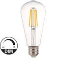 E27 LED izzó Retro filament (4W/300°) ST64 Körte - meleg fehér, dimmelhető