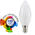E14 LED lámpa (5.5W/200°) Gyertya - hideg fehér (CRI95 - RealColor)