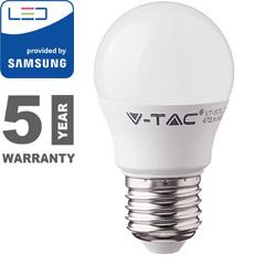 E27 LED lámpa (7W/180°) Kisgömb - hideg fehér, PRO Samsung