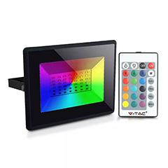 RGB LED reflektor (30W/110°) RF távirányítóval SMD