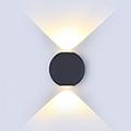 Orb oldalfali dekor lámpatest - fekete (6W) meleg f.