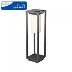 Napelemes oldalfali lámpa (szürke) 2W 3000K (14x14x50cm)