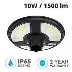 Napelemes utcai LED lámpa fej, mozgásérzékelővel (10W/1500lm) természetes fehér