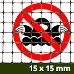 Rácsos vakondháló - rács osztás: 15x15mm  (1x25m = 25m2) tekercs
