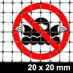 Rácsos vakondháló - rács osztás: 20x20mm  (1x20m = 20m2) tekercs