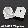 ALP-027 Véglezáró alumínium LED profilhoz, szürke