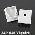 ALP-028 Véglezáró alumínium LED profilhoz, szürke