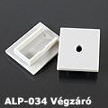 ALP-034 Véglezáró alumínium LED profilhoz, szürke