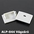 ALP-044 Véglezáró alumínium LED profilhoz, szürke