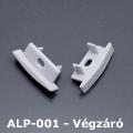 ALP-001 Véglezáró alumínium LED profilhoz - szürke