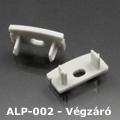 ALP-002, ALP-002RL Véglezáró alumínium LED profilhoz, szürke