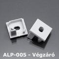 ALP-005 Véglezáró alumínium LED profilhoz, szürke
