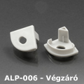 ALP-006 Véglezáró alumínium LED profilhoz, szürke