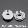 ALP-008 Véglezáró alumínium LED profilhoz, szürke