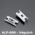ALP-009 Véglezáró alumínium LED profilhoz