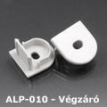 ALP-010 Véglezáró alumínium LED profilhoz, szürke