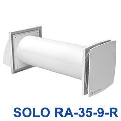 Hővisszanyerős szellőztető, egyhelyiséges (SOLO RA-1-35-9-R) 46m3/óra - húzózsinóros kapcsolóval