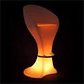 -RGB LED világítású kerti bútor, akkuval, távirányítóval - bárszék