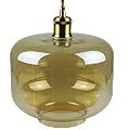 Lava Day üveg+fém függőlámpa  (E27) - borostyán bura