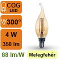 LED lámpa E14 Filament (4Watt/300°) Vintage láng - extra meleg
