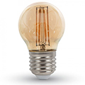 E27 LED izzó Vintage filament (4W/300°) Kisgömb - extra meleg fehér