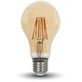 E27 LED izzó Vintage filament (8W/300°) Körte - extra meleg fehér