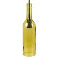 Bottle palack üveg csillár (E14) - sárga színű bura