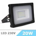 - AKCIÓ: Slim LED reflektor (20 Watt/100°) - Fekete, Természetes