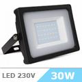 - AKCIÓ: Slim LED reflektor (30 Watt/100°) - Fekete, Természetes