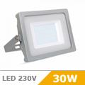 - AKCIÓ: Slim LED reflektor (30 Watt/100°) - Szürke ház, Meleg f