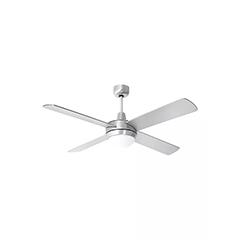 - Mennyezeti ventilátor és lámpa, acél (4 lapát, 2xE27 ) távirányítóval
