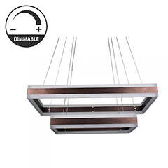 Design LED csillár (115W) - meleg fényű, dimmelhető, kávébarna