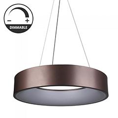 Ledes design csillár (20W) - meleg fényű, dimmelhető, kávébarna